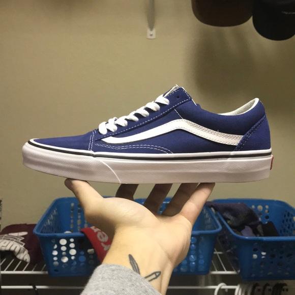 de93be681f Vans Shoes - Blue Old Skool Vans